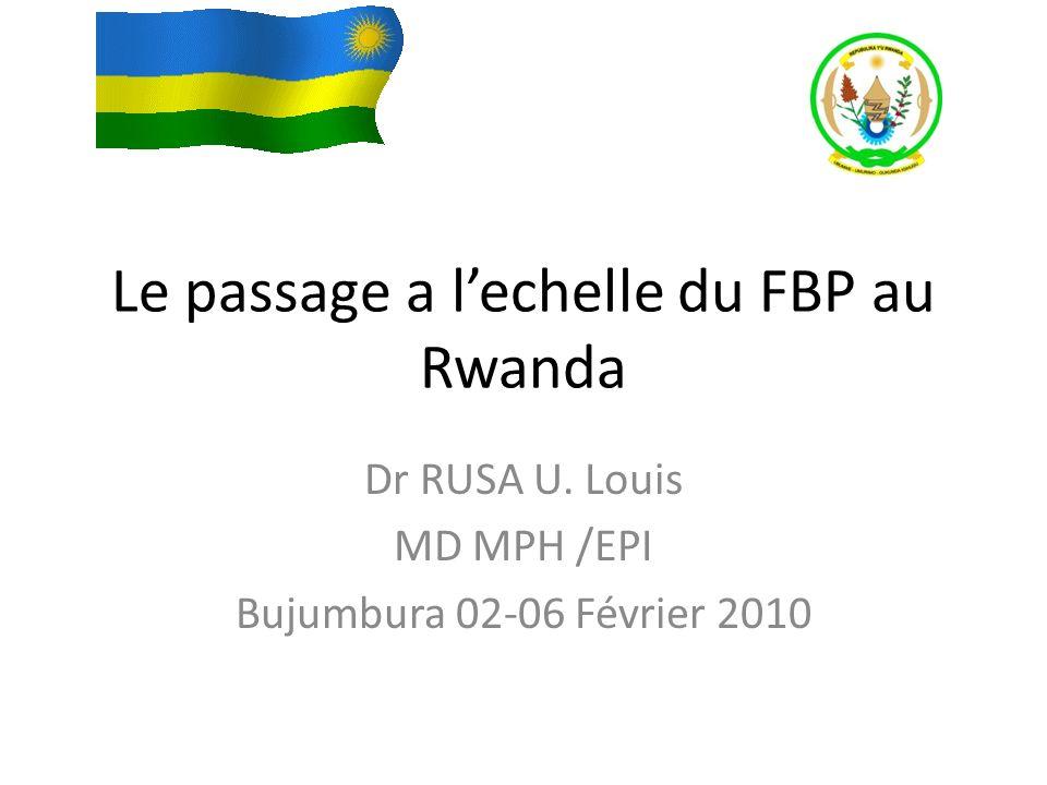 Le passage a l'echelle du FBP au Rwanda