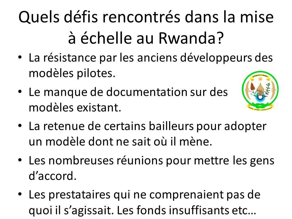 Quels défis rencontrés dans la mise à échelle au Rwanda