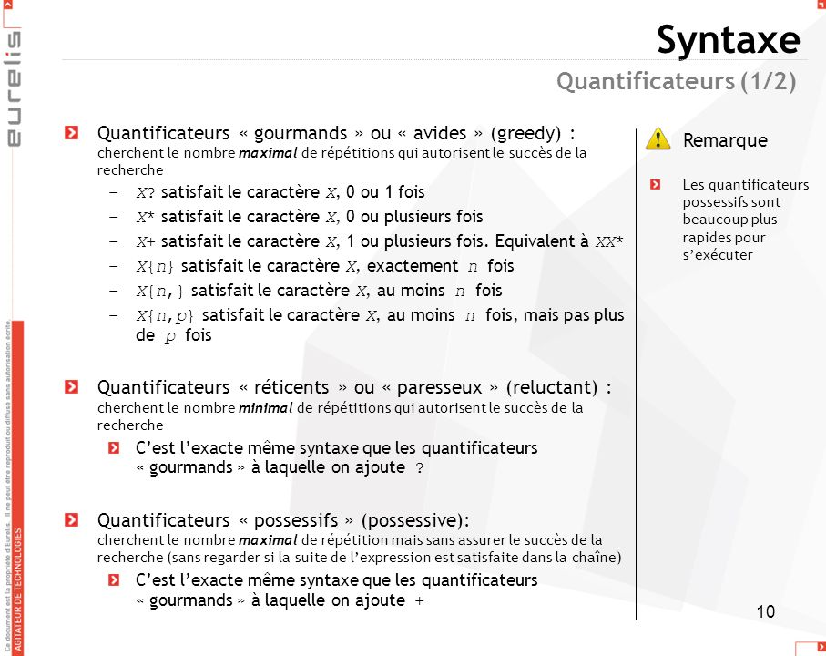 Syntaxe Quantificateurs (1/2)