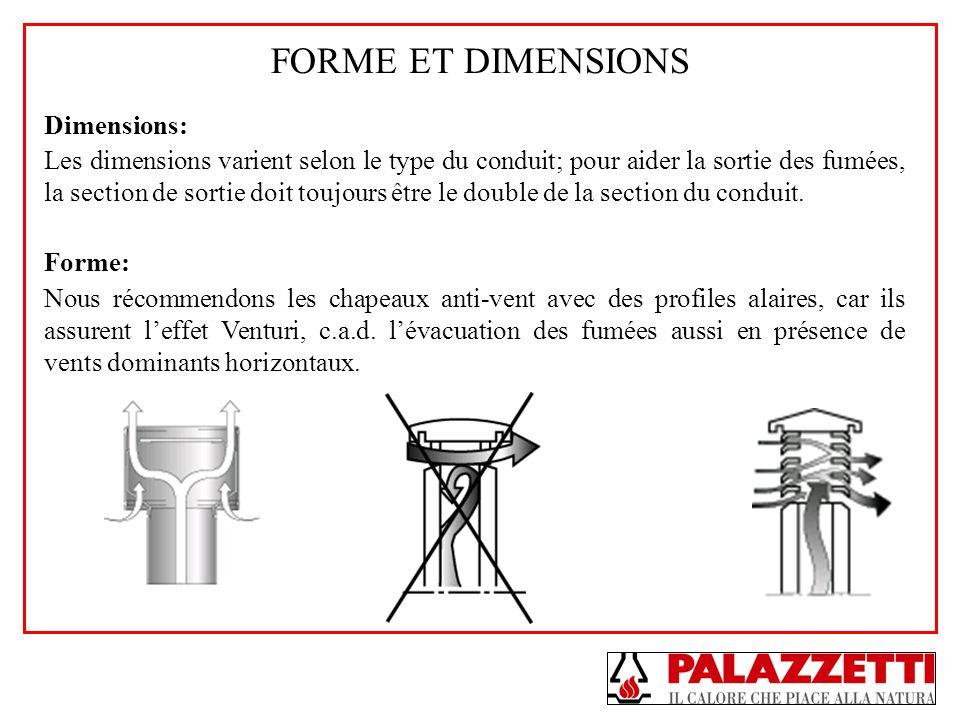 FORME ET DIMENSIONS Dimensions: