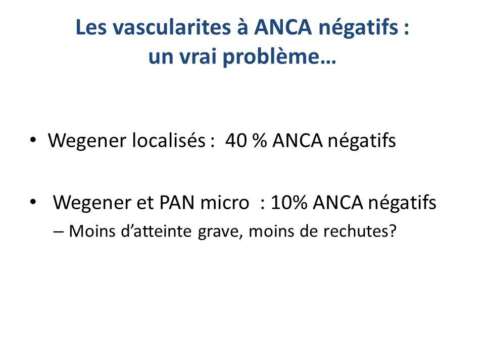 Les vascularites à ANCA négatifs : un vrai problème…