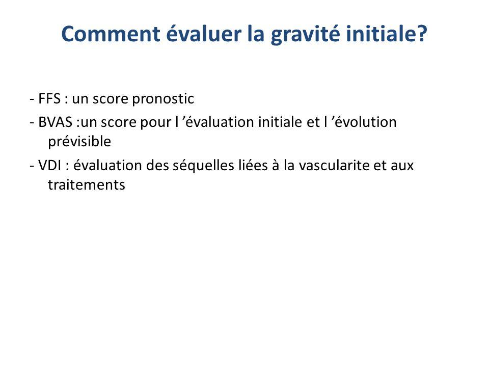 Comment évaluer la gravité initiale