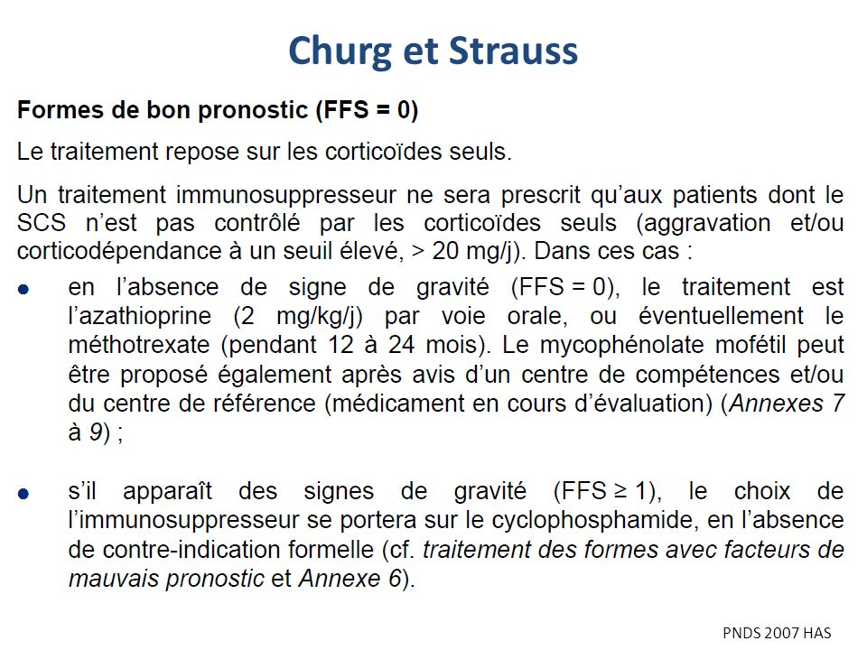 Churg et Strauss PNDS 2007 HAS