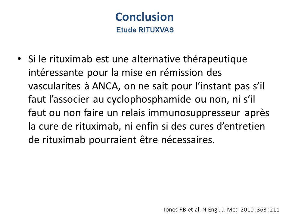 Conclusion Etude RITUXVAS.
