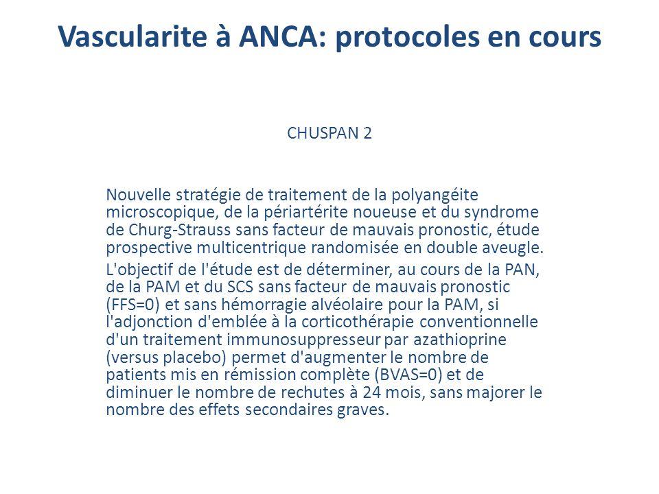 Vascularite à ANCA: protocoles en cours