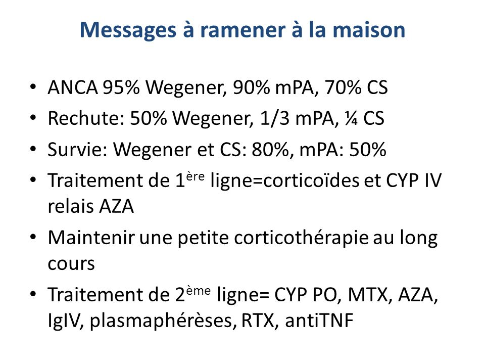 Messages à ramener à la maison