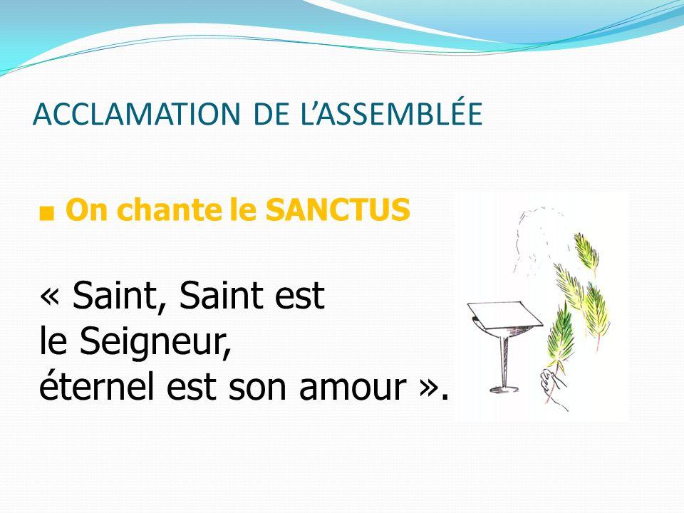 ACCLAMATION DE L'ASSEMBLÉE