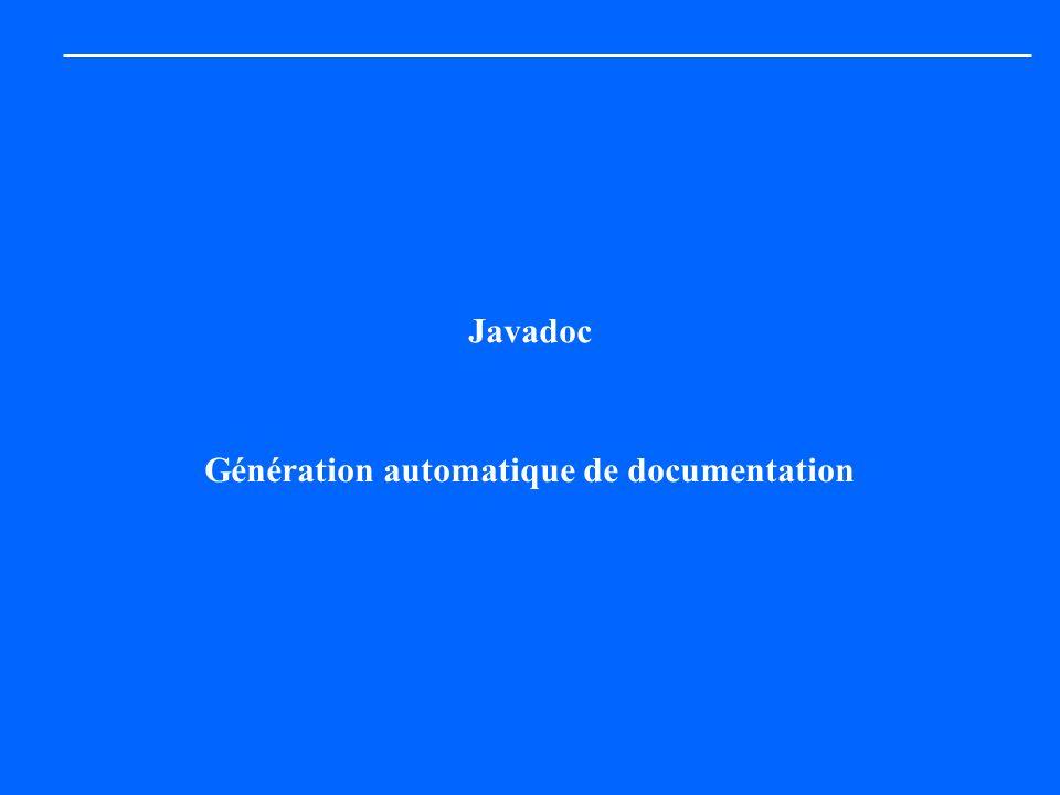 Génération automatique de documentation