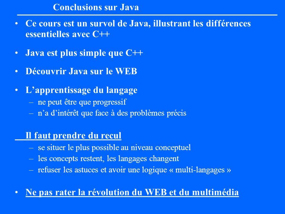 Java est plus simple que C++ Découvrir Java sur le WEB