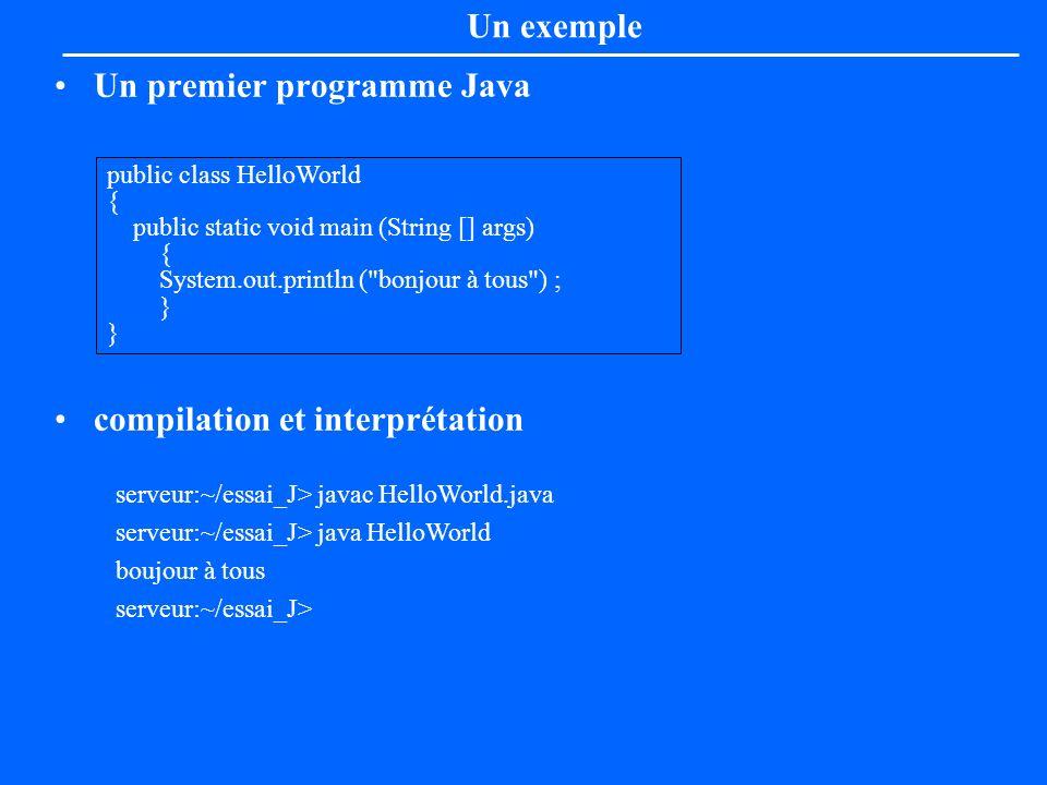 Un premier programme Java