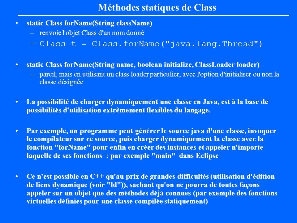 Méthodes statiques de Class