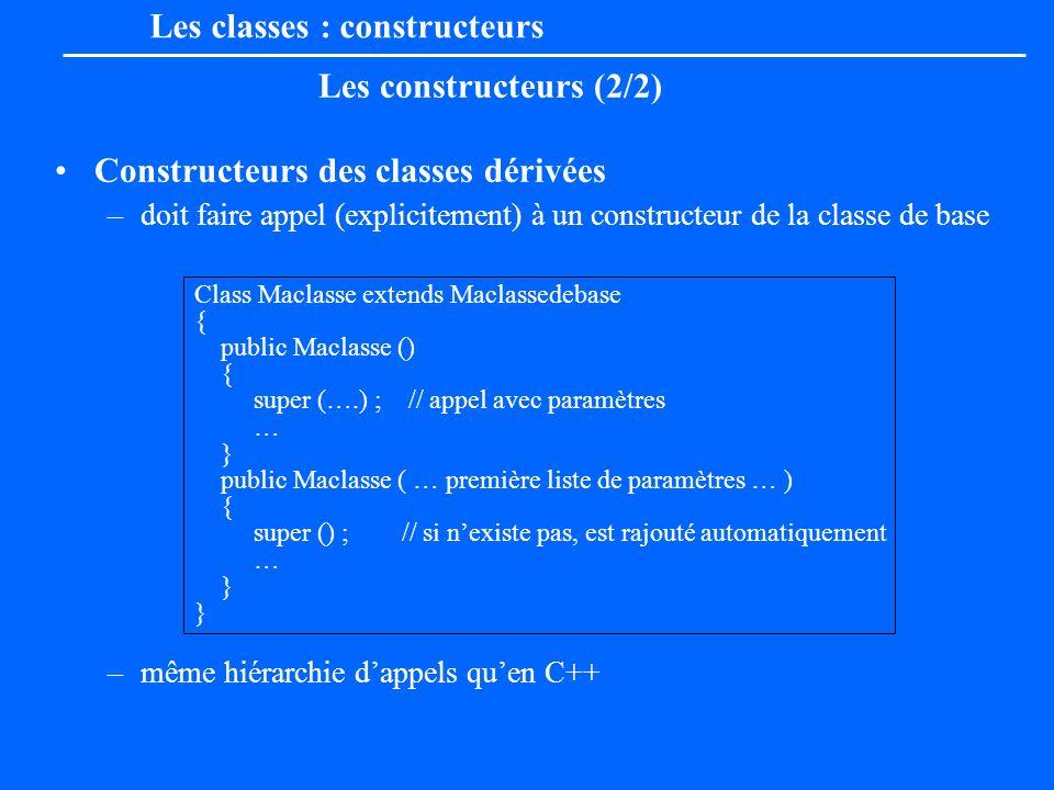 Les classes : constructeurs