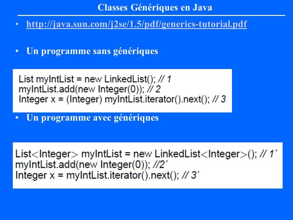 Classes Génériques en Java
