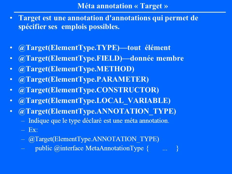 Méta annotation « Target »