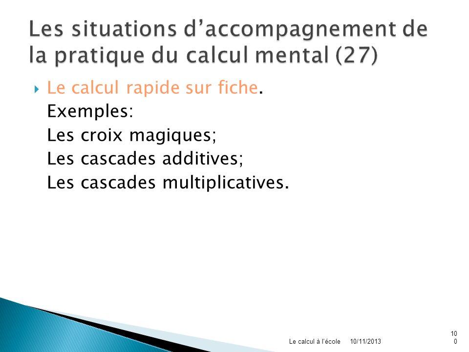 Les situations d'accompagnement de la pratique du calcul mental (27)