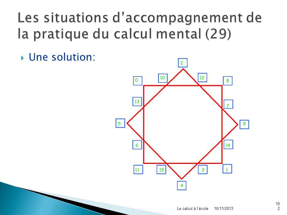 Les situations d'accompagnement de la pratique du calcul mental (29)