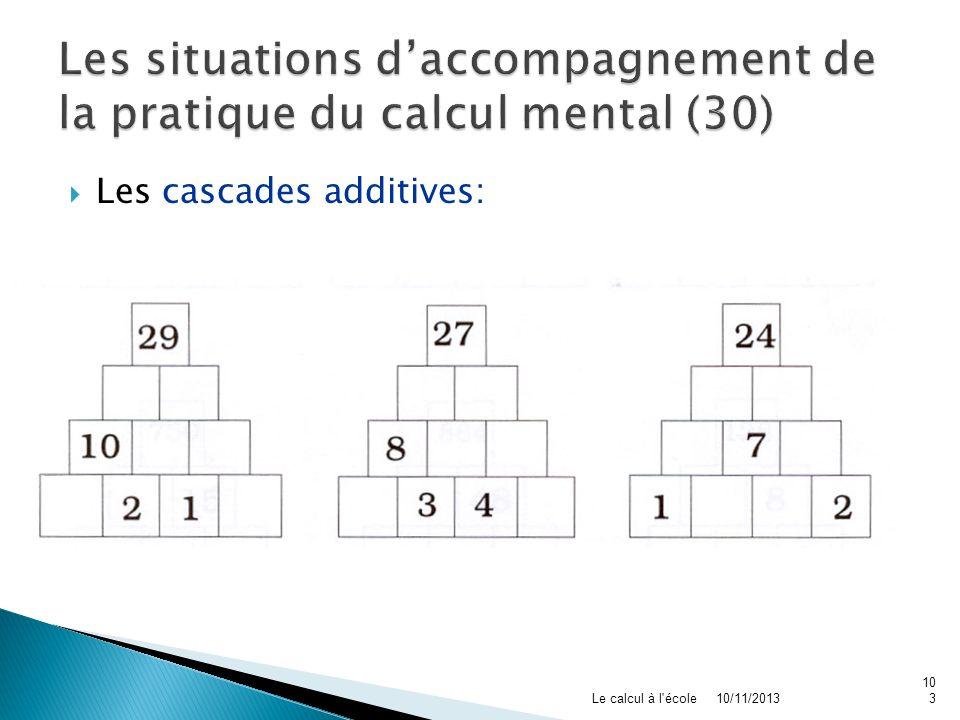 Les situations d'accompagnement de la pratique du calcul mental (30)