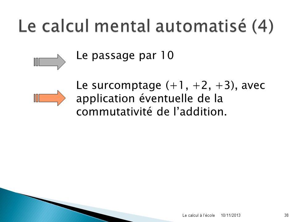 Le calcul mental automatisé (4)