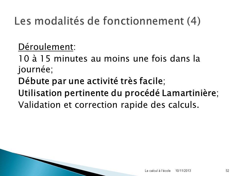 Les modalités de fonctionnement (4)