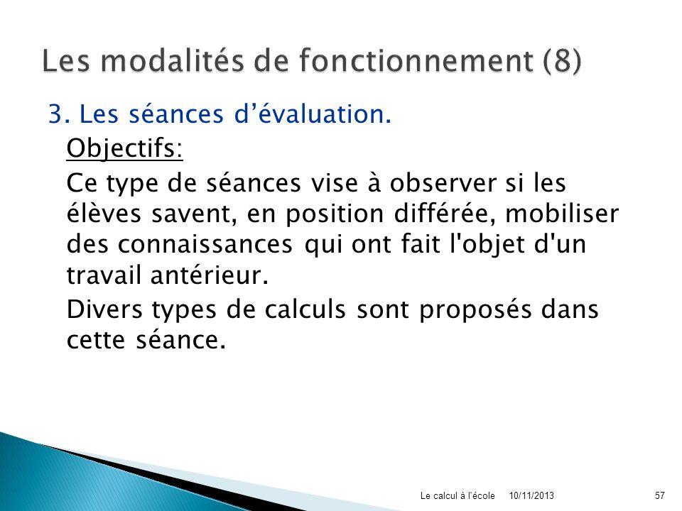 Les modalités de fonctionnement (8)