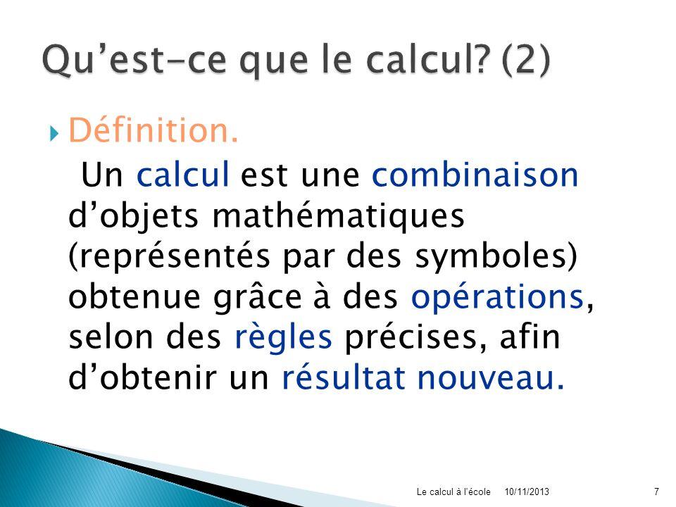 Qu'est-ce que le calcul (2)