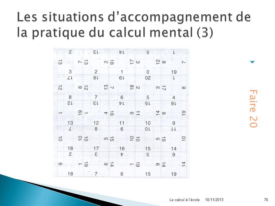 Les situations d'accompagnement de la pratique du calcul mental (3)
