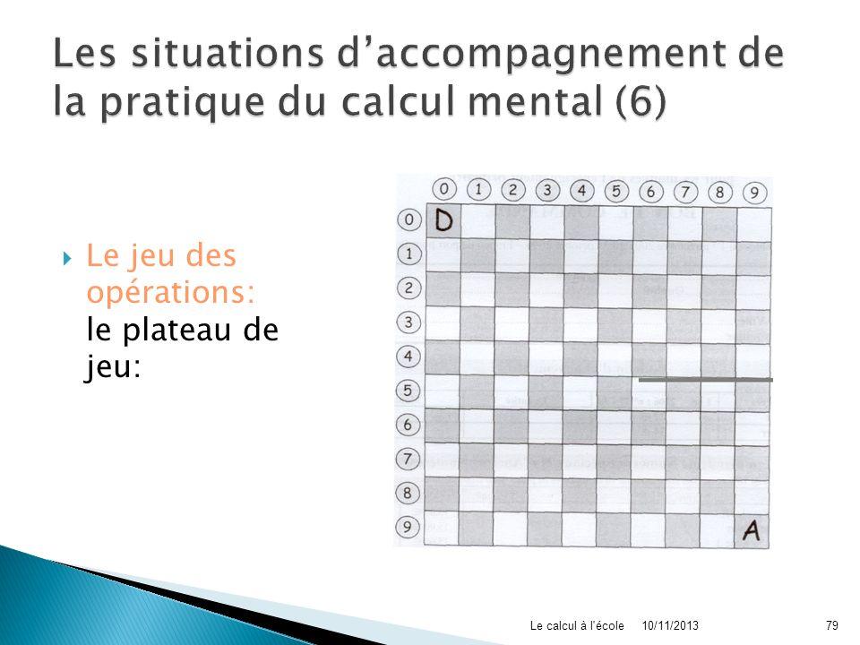 Les situations d'accompagnement de la pratique du calcul mental (6)