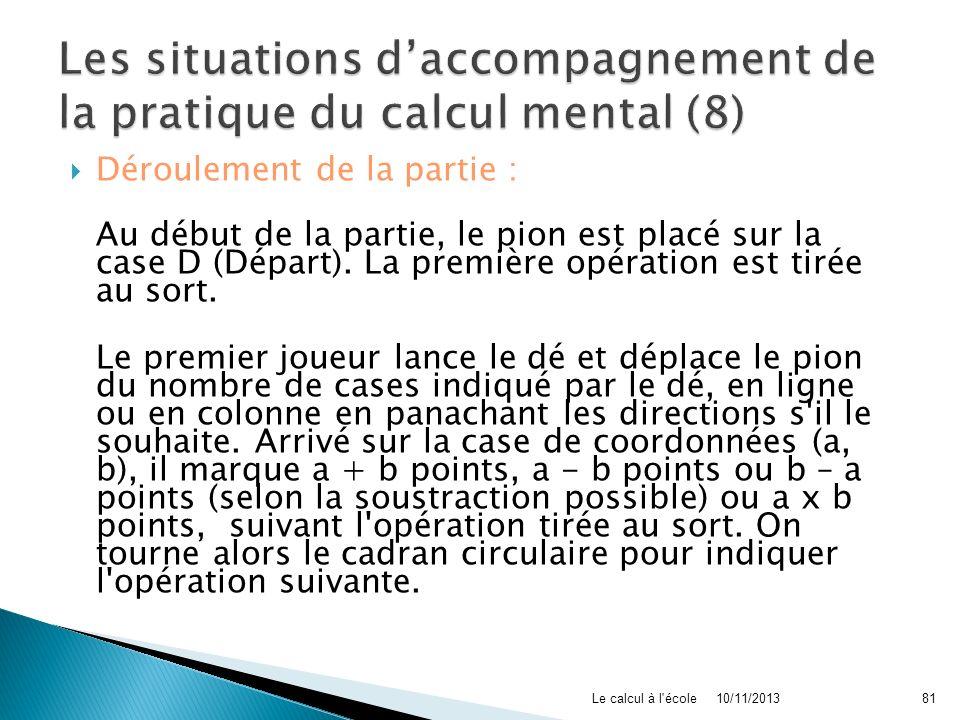 Les situations d'accompagnement de la pratique du calcul mental (8)