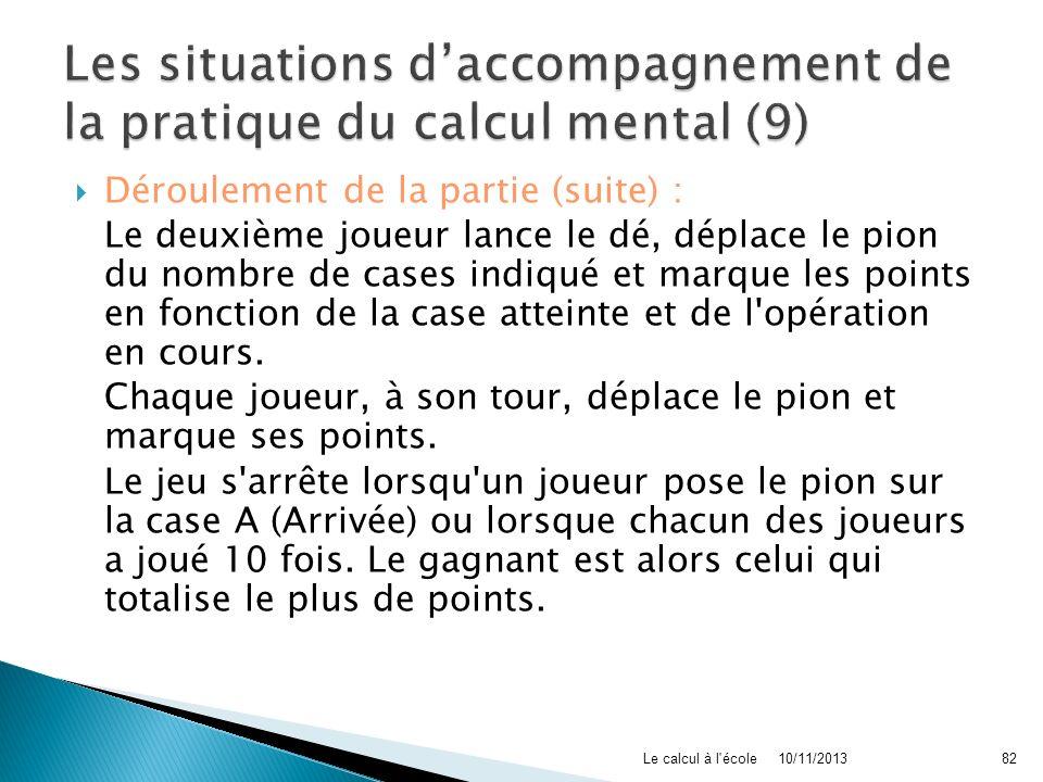 Les situations d'accompagnement de la pratique du calcul mental (9)
