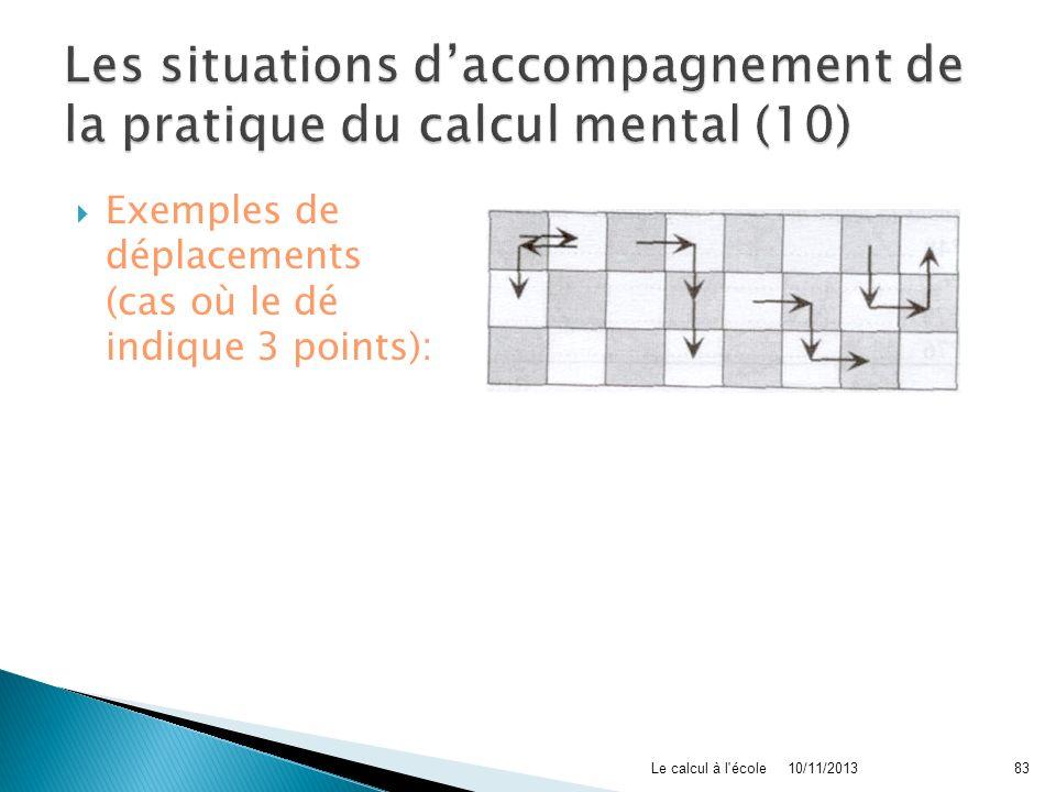 Les situations d'accompagnement de la pratique du calcul mental (10)