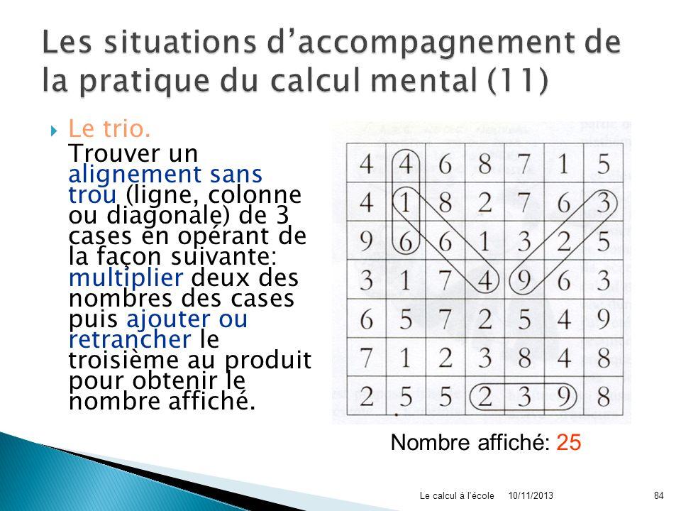 Les situations d'accompagnement de la pratique du calcul mental (11)