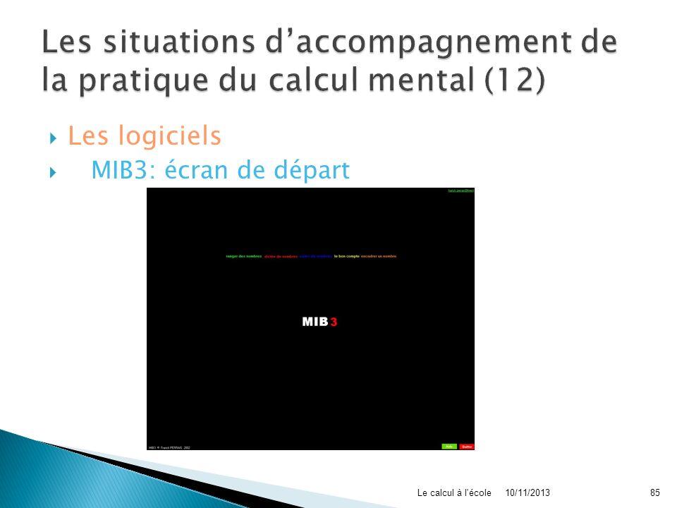 Les situations d'accompagnement de la pratique du calcul mental (12)