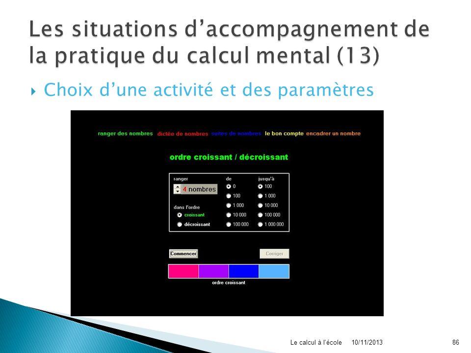 Les situations d'accompagnement de la pratique du calcul mental (13)