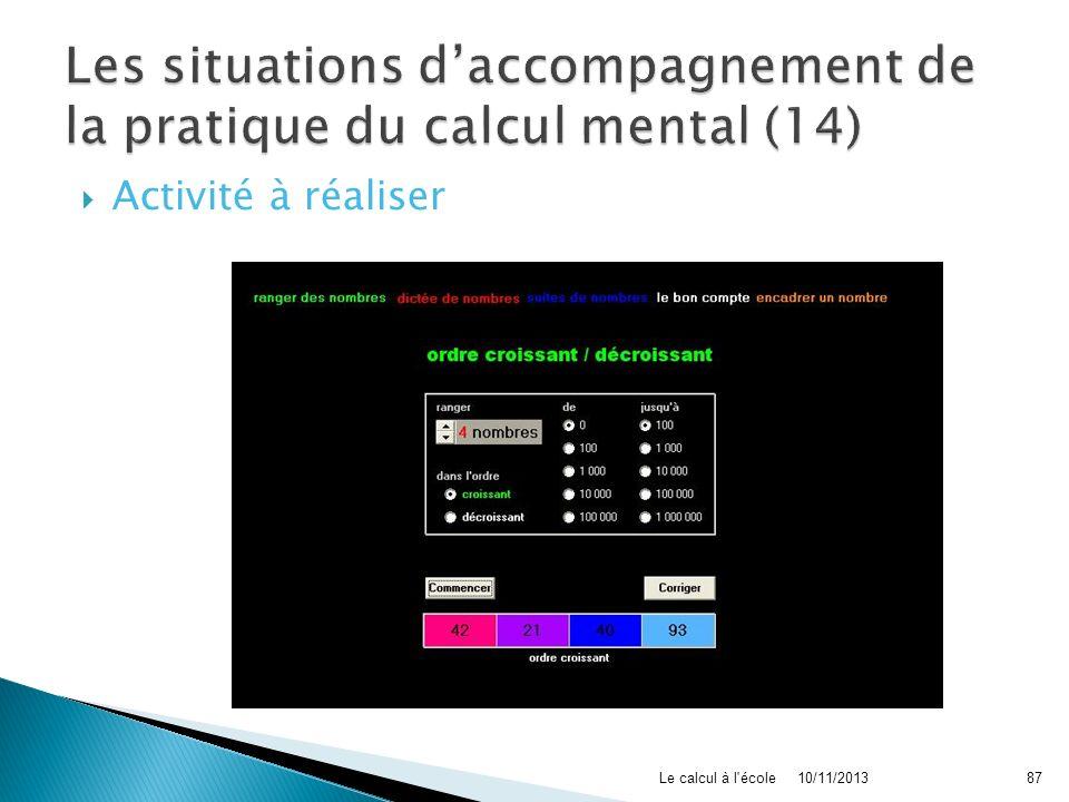 Les situations d'accompagnement de la pratique du calcul mental (14)