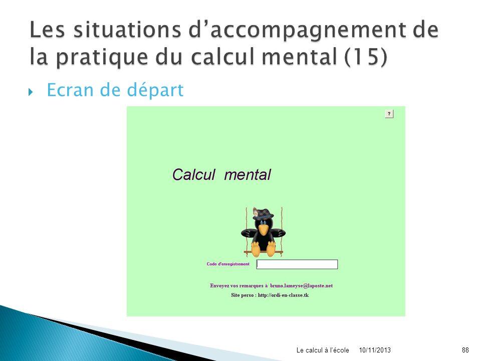 Les situations d'accompagnement de la pratique du calcul mental (15)