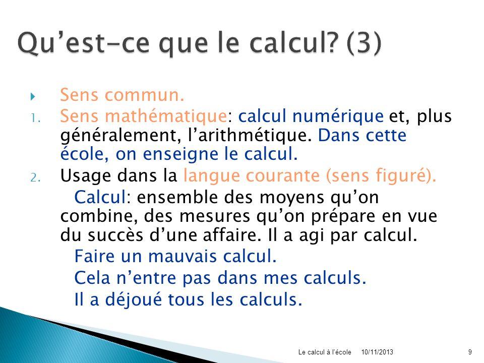 Qu'est-ce que le calcul (3)