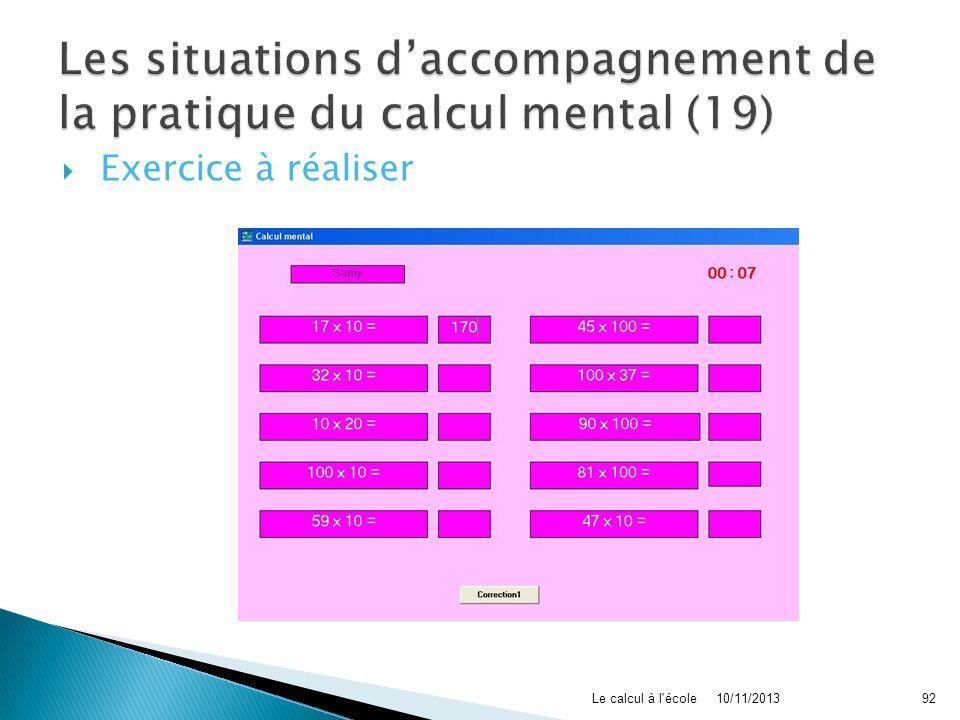 Les situations d'accompagnement de la pratique du calcul mental (19)