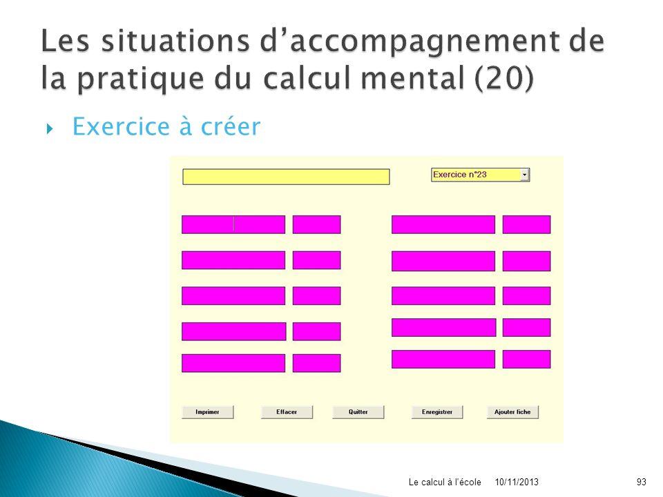 Les situations d'accompagnement de la pratique du calcul mental (20)