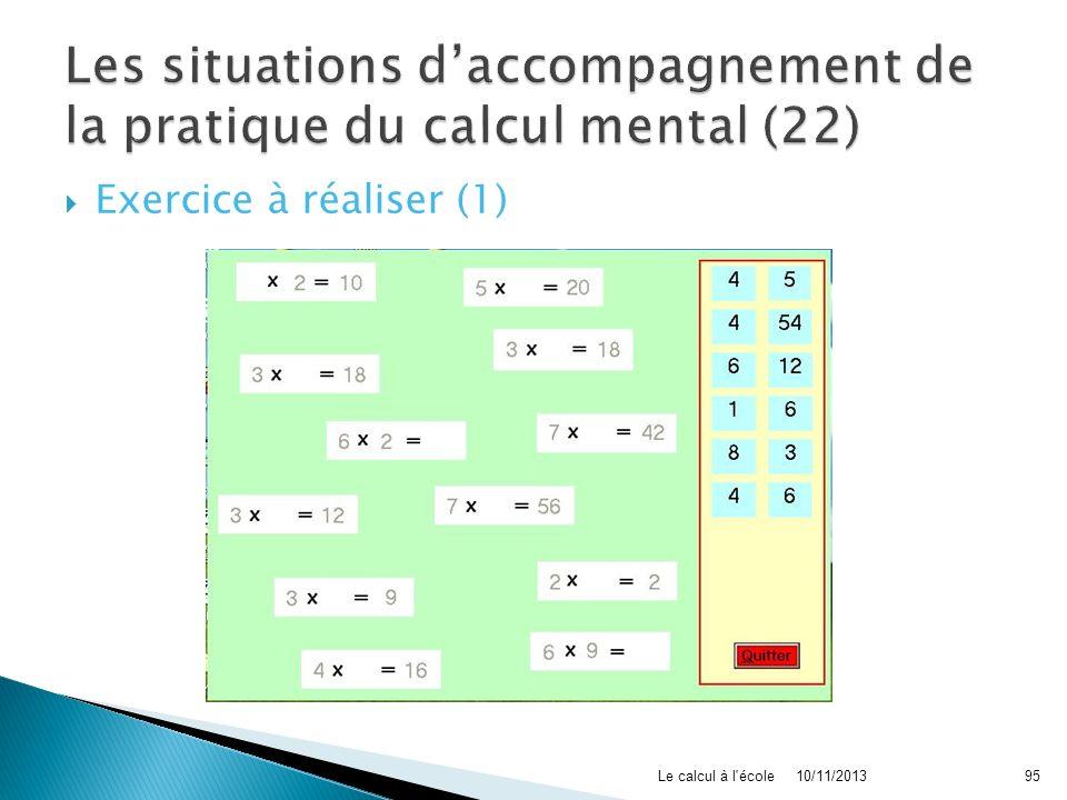 Les situations d'accompagnement de la pratique du calcul mental (22)