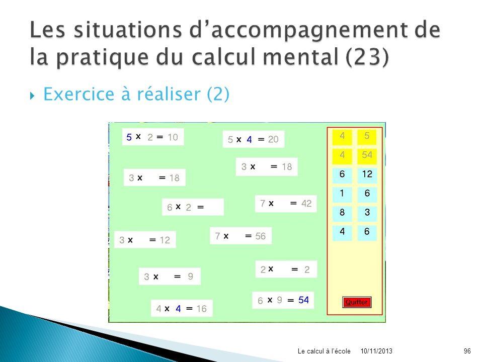 Les situations d'accompagnement de la pratique du calcul mental (23)