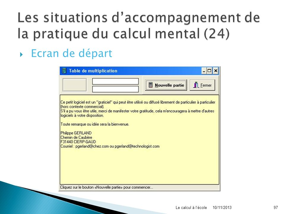 Les situations d'accompagnement de la pratique du calcul mental (24)