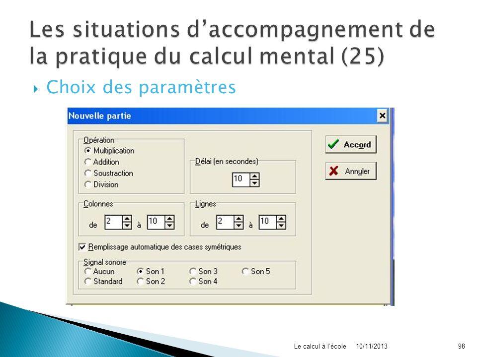 Les situations d'accompagnement de la pratique du calcul mental (25)