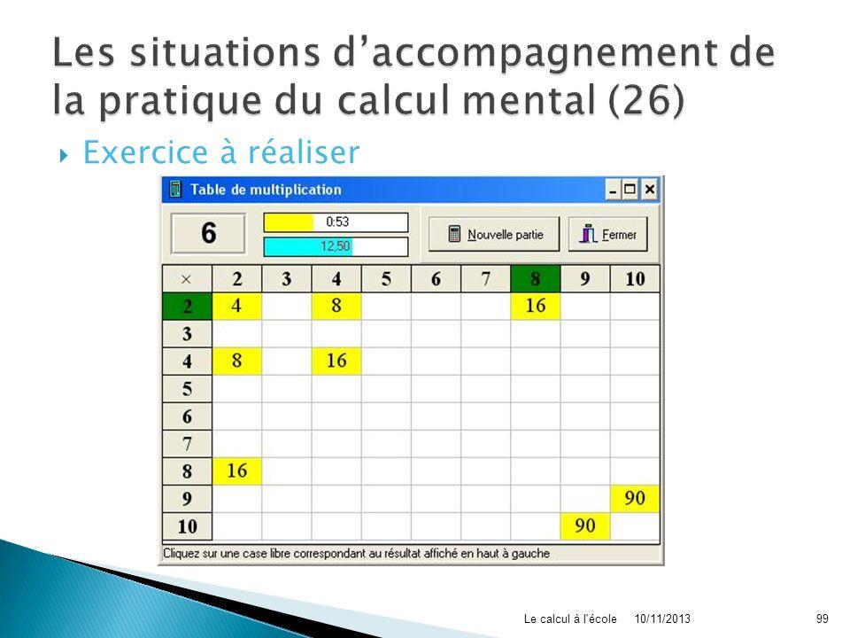 Les situations d'accompagnement de la pratique du calcul mental (26)