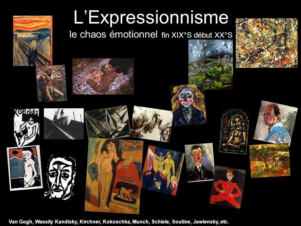L'Expressionnisme le chaos émotionnel fin XIX°S début XX°S
