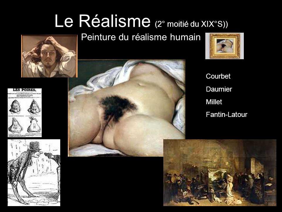Le Réalisme (2° moitié du XIX°S)) Peinture du réalisme humain