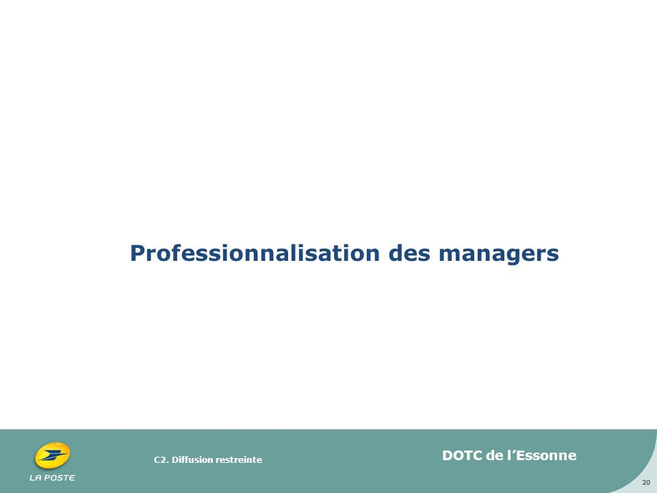 Professionnalisation des managers