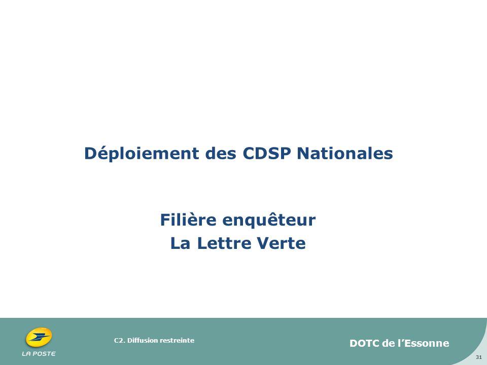 Déploiement des CDSP Nationales