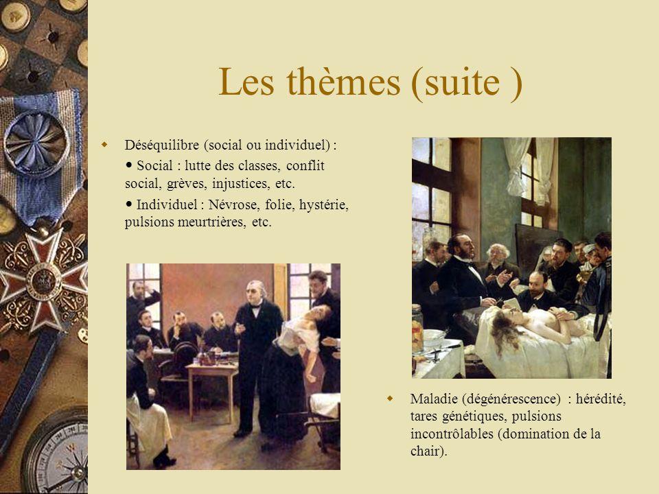 Les thèmes (suite ) Déséquilibre (social ou individuel) :