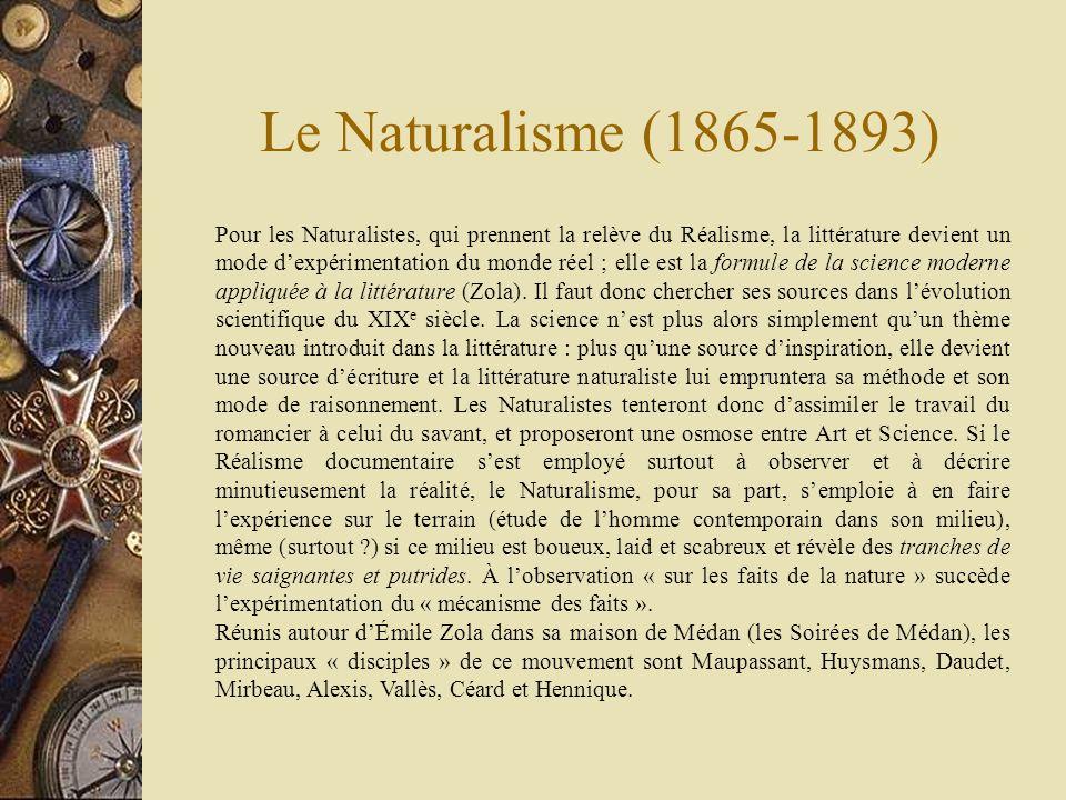Le Naturalisme (1865-1893)
