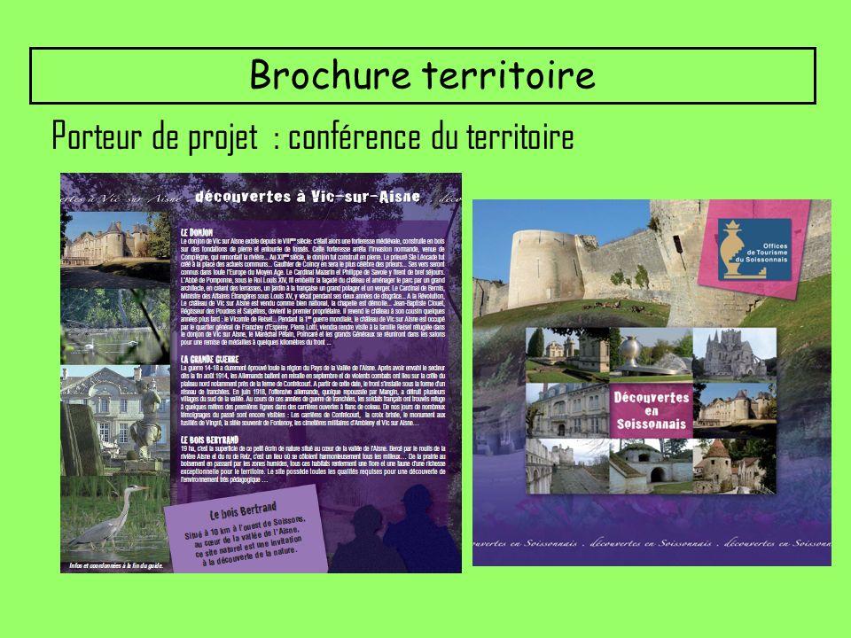 Brochure territoire Porteur de projet : conférence du territoire